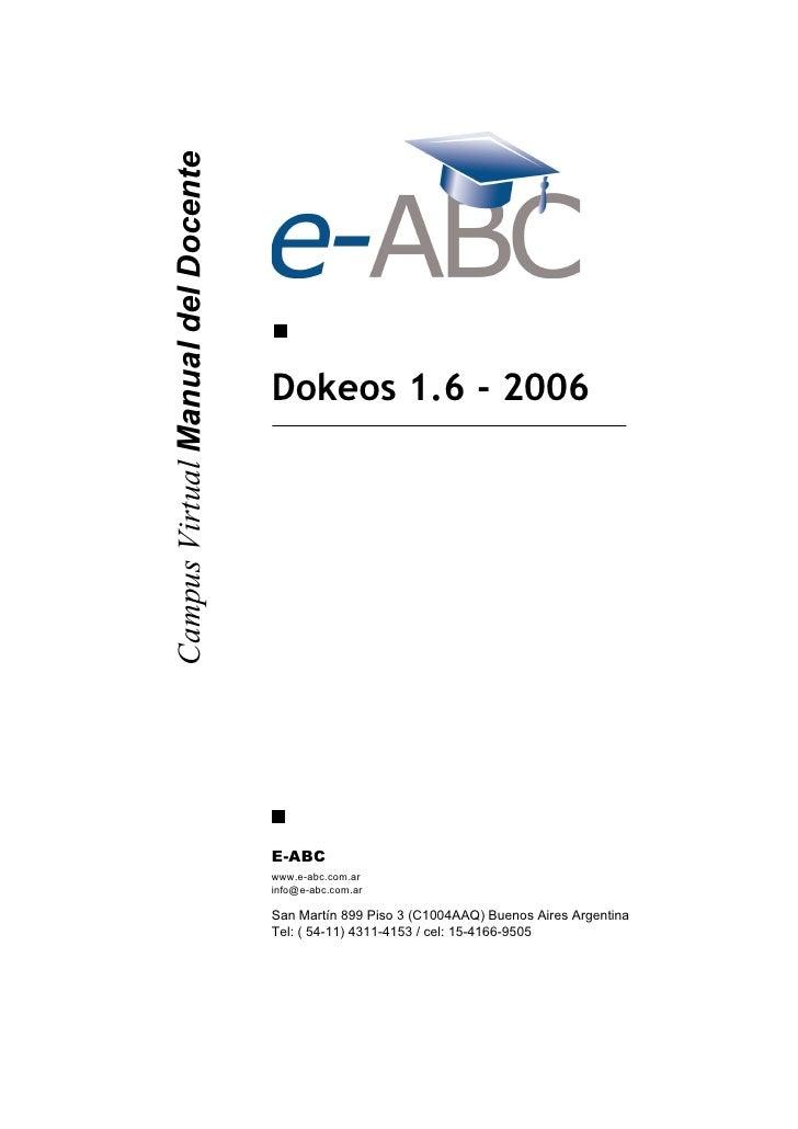 Campus Virtual Manual del Docente                                         Dokeos 1.6 - 2006                               ...