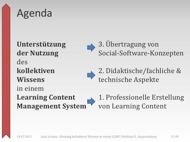 Unterstützung der Nutzung des kollektiven Wissens in einem LCMS Slide 3