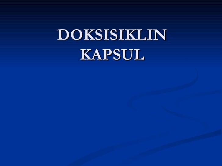 DOKSISIKLIN KAPSUL