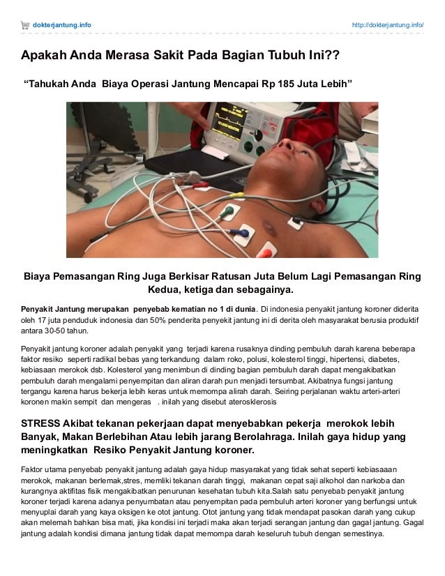 """dokterjantung.info http://dokterjantung.info/ Apakah Anda Merasa Sakit Pada Bagian Tubuh Ini?? """"Tahukah Anda Biaya Operasi..."""
