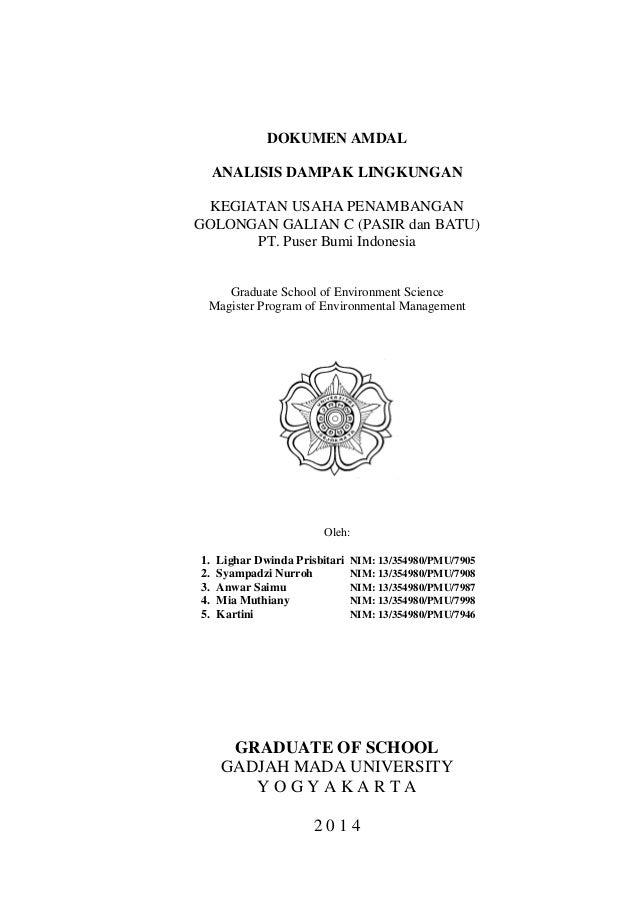 Dokumen Amdal Studikasusanalisisdampa
