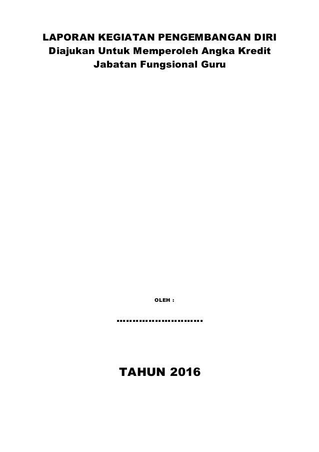 Dokumen Pengembangan Diri Naik Pangkat Kosong