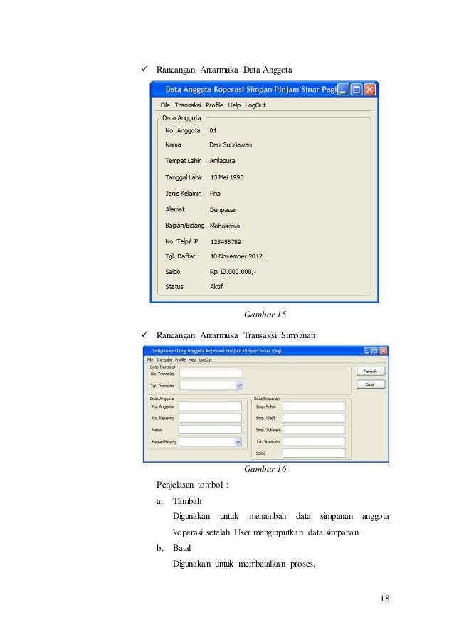 Dokumen srs sisteminformasikoperasi rancangan antarmuka bukti pengambilan simpanan gambar 14 18 18 rancangan antarmuka data ccuart Choice Image