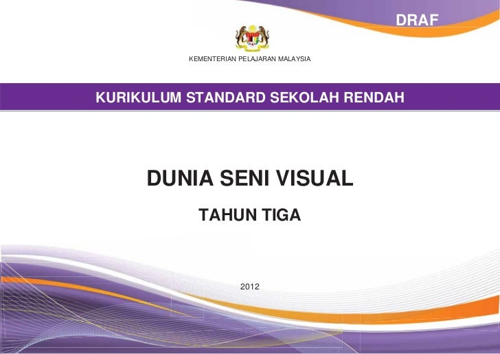 Dokumen Standard Dunia Seni Visual Tahun 3