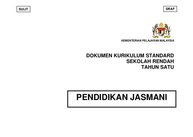 SULIT                                       DRAF                   KEMENTERIAN PELAJARAN MALAYSIA         DOKUMEN KURIKULU...