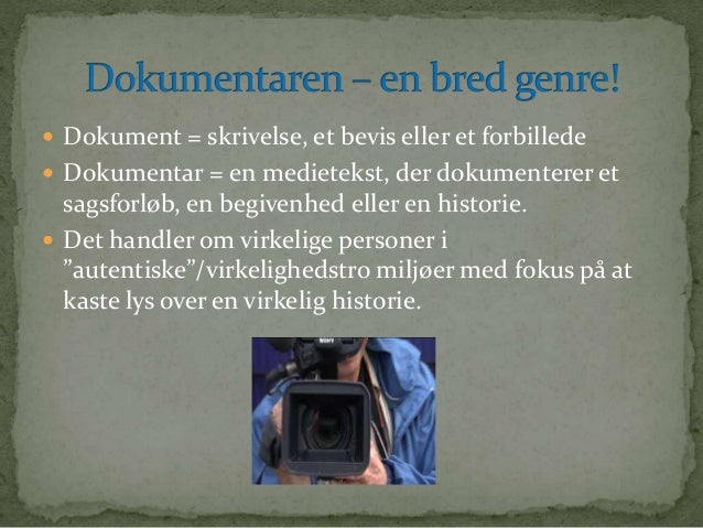 dybdeborende dokumentar