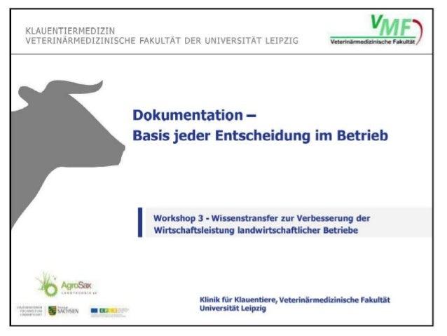 Dokumentation im Herdenmanagement - Basis jeder Entscheidung im Betrieb
