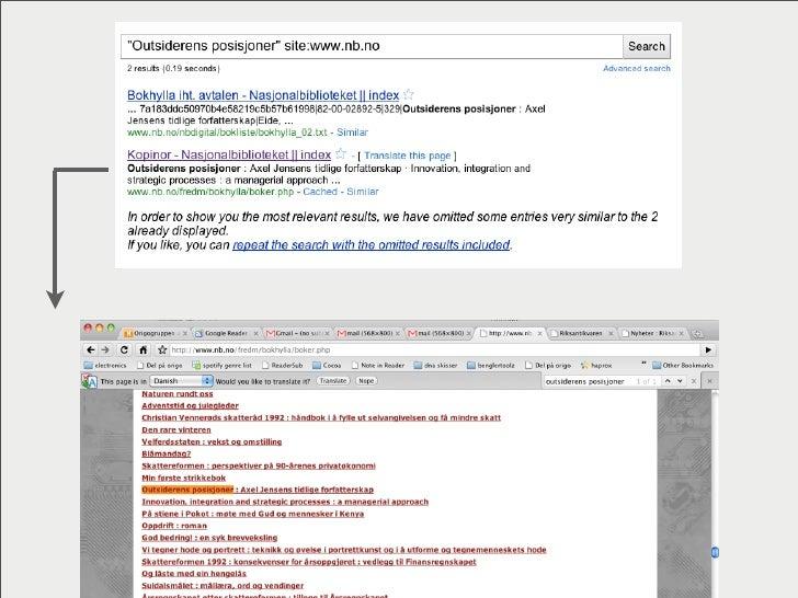 Nasjonalbiblioteket   Ute  siden:  9  mars  2010