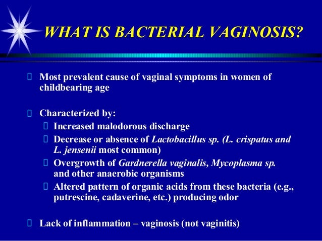 Bacterial Vaginosis Yellow Discharge