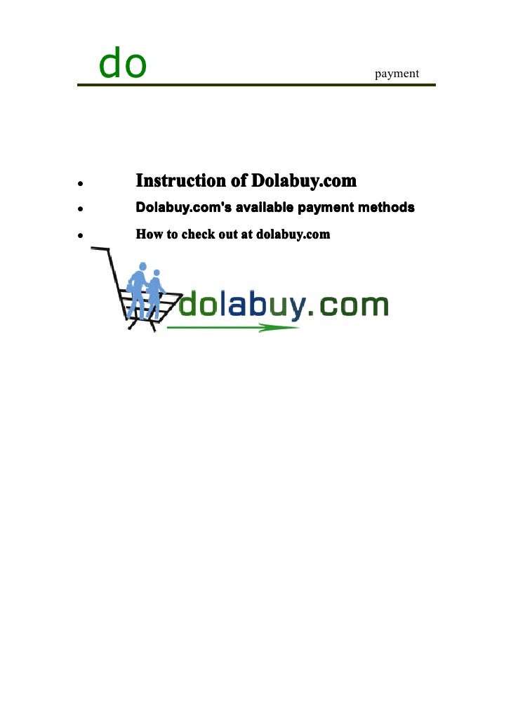 do                                 payment�    Instruction of Dolabuy.com�    Dolabuy.coms available payment methods�    H...