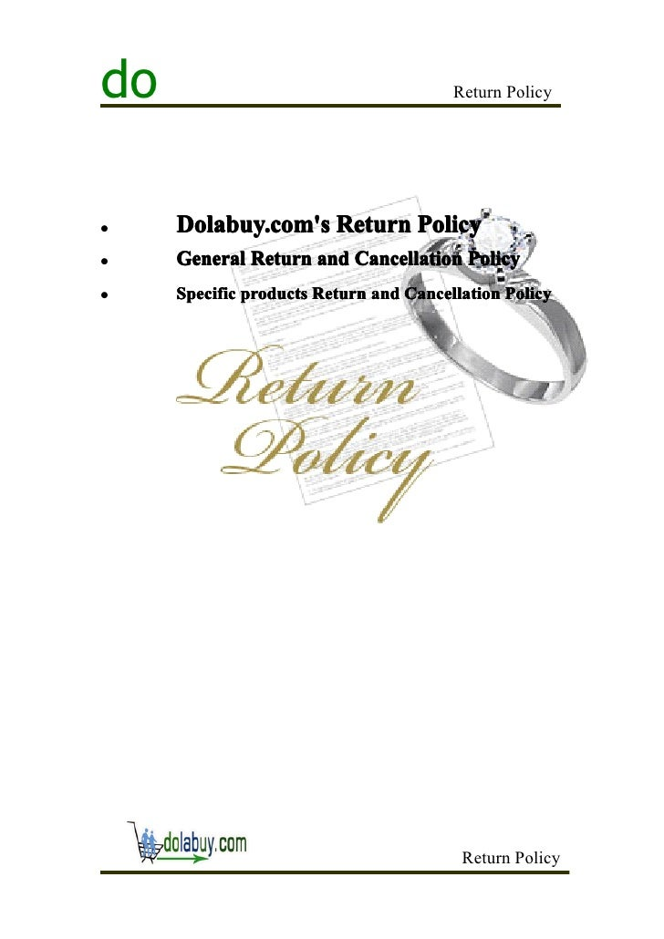 do                                      Return Policy�    Dolabuy.coms Return Policy�    General Return and Cancellation P...