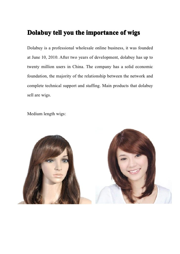 Dolabuy tell you the importance of wigsDolabuy is a professional wholesale online business, it was foundedat June 10, 2010...