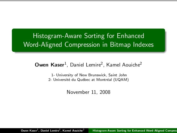 Histogram-Aware Sorting for Enhanced Word-Aligned Compression in Bitmap Indexes