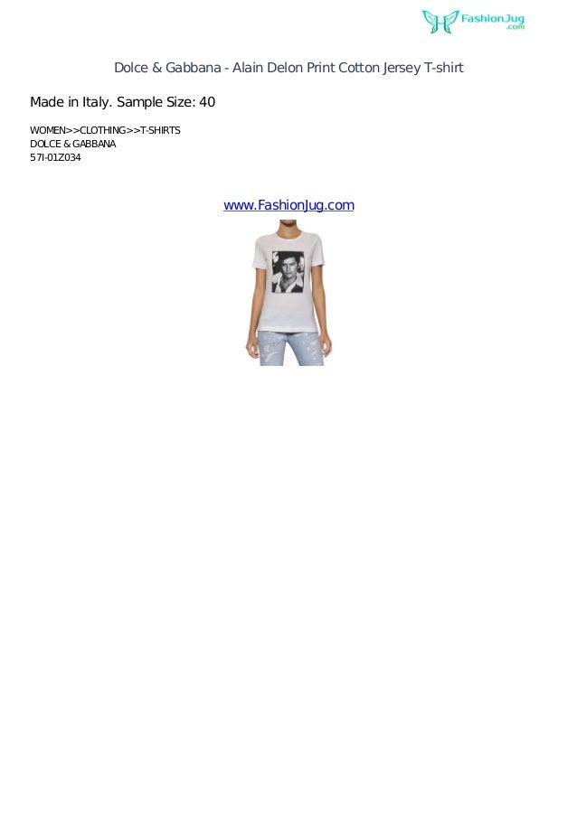 ca2ebbbd17e2a2 Dolce   Gabbana - Alain Delon Print Cotton Jersey T-shirtMade in Italy.  Sample