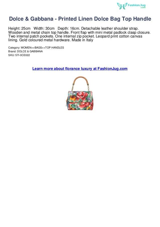 ddc76d079b Dolce gabbana-printed linen dolce bag top handle fashion weeks 2013 at  fashion jug
