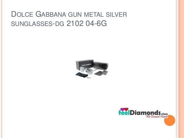 DOLCE GABBANA GUN METAL SILVER  SUNGLASSES-DG 2102 04-6G