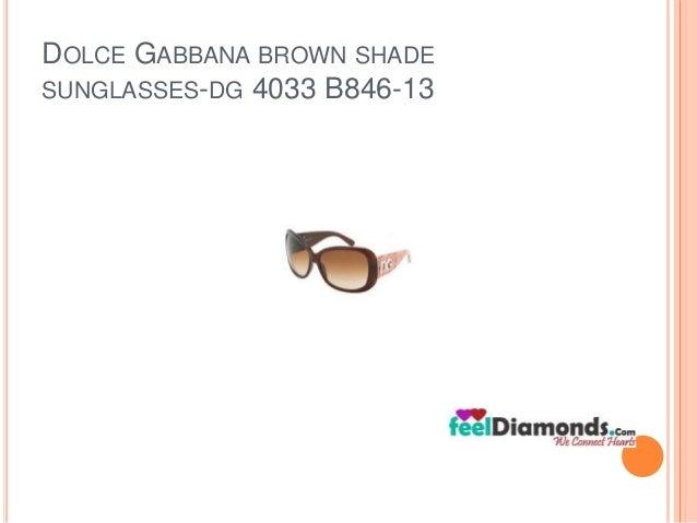 DOLCE GABBANA BROWN SHADE  SUNGLASSES-DG 4033 B846-13