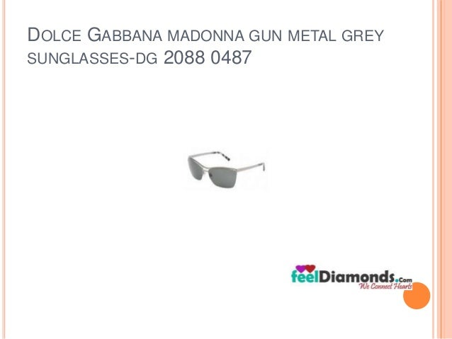 DOLCE GABBANA MADONNA GUN METAL GREY  SUNGLASSES-DG 2088 0487