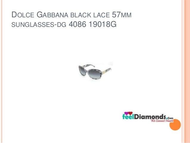 DOLCE GABBANA BLACK LACE 57MM  SUNGLASSES-DG 4086 19018G