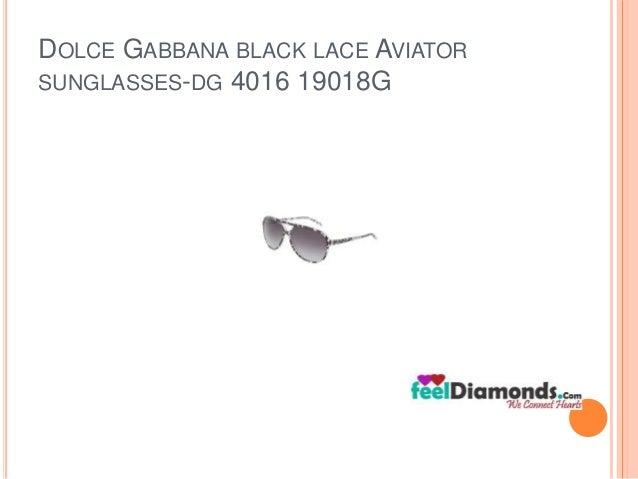 DOLCE GABBANA BLACK LACE AVIATOR  SUNGLASSES-DG 4016 19018G