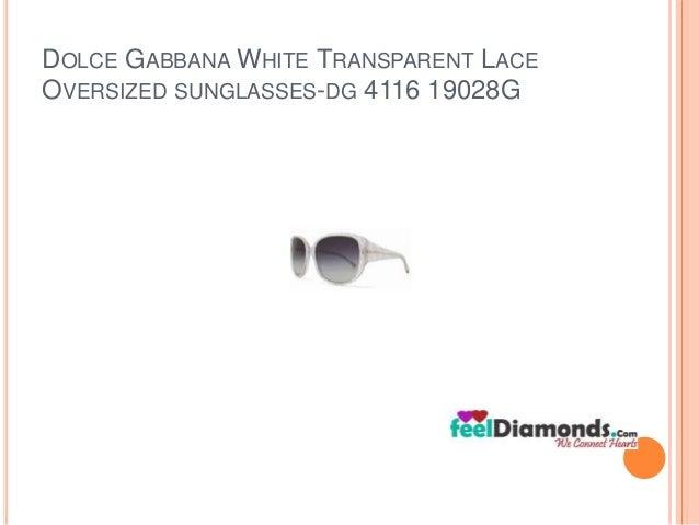 DOLCE GABBANAWHITE TRANSPARENT LACE  OVERSIZED SUNGLASSES-DG 4116 19028G