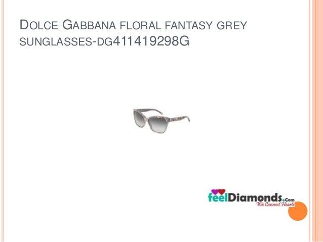 DOLCE GABBANA FLORAL FANTASY GREY  SUNGLASSES-DG411419298G