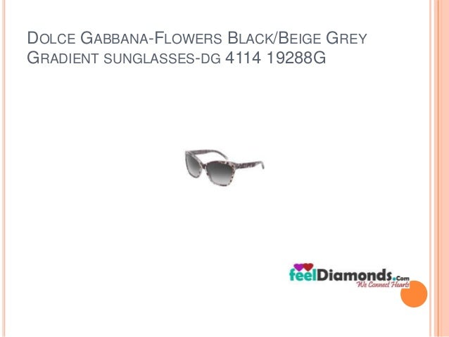 DOLCE GABBANA-FLOWERS BLACK/BEIGE GREY  GRADIENT SUNGLASSES-DG 4114 19288G