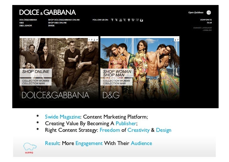 Dolce and Gabbana (D&G) SWOT Analysis, Competitors & USP