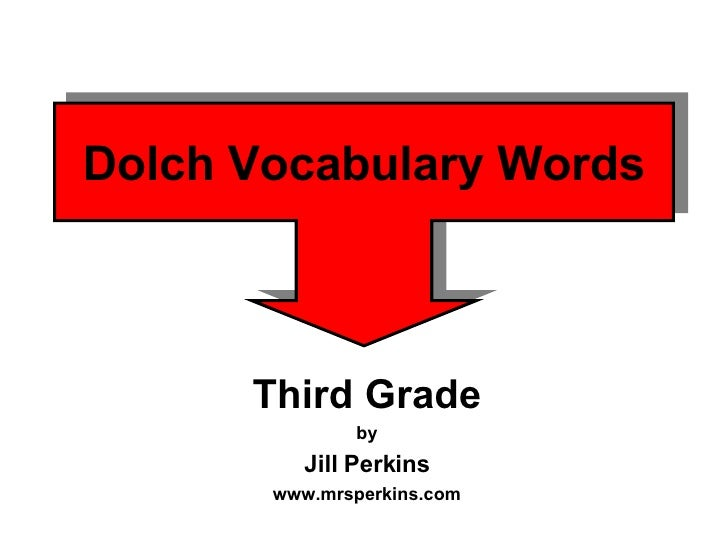 Dolch Vocabulary Words Third Grade by Jill Perkins www.mrsperkins.com