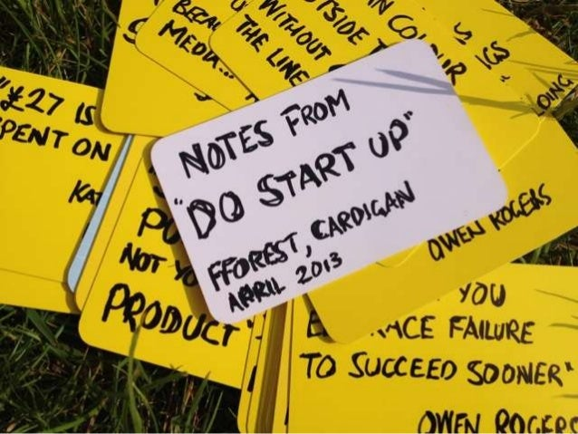 Do Lectures Start Up - Notes from a field
