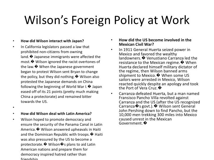 """moralistic diplomacy and the intervention of the united states in mexico Dollar diplomacy and us foreign policy  roosevelt's intervention in the  dominican republicwilson's foreign policy""""moral diplomacy""""wilson advocated making the us the """"moral conscious"""" of the world  9  /how did the us become involved in the mexican civil war."""