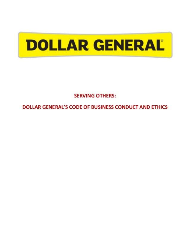 dollar general handbook rh slideshare net Business Standard Operating Procedure Examples of Standard Operating Procedures