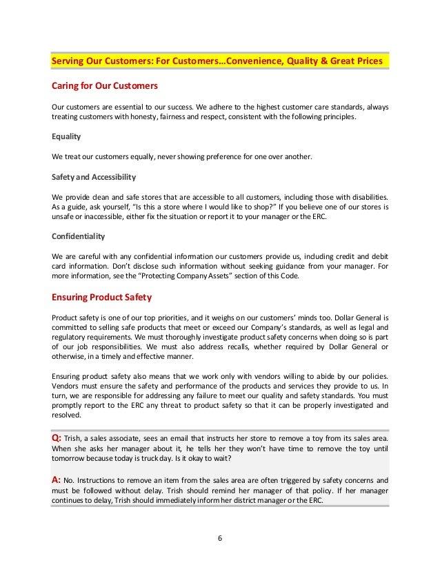 dollar general handbook rh slideshare net Business Standard Operating Procedure Standard Operating Procedure Template Example