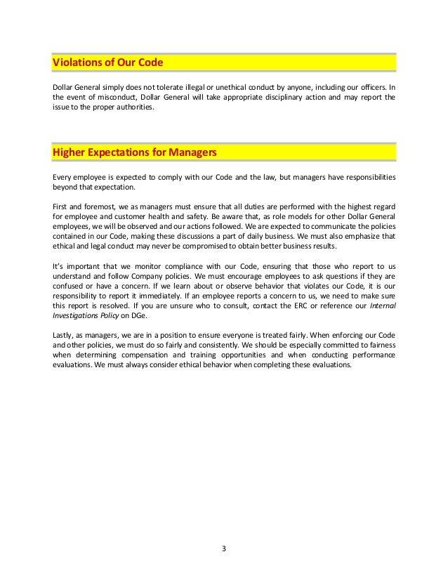 dollar general handbook rh slideshare net Manufacturing Standard Operating Procedure Template Procedure Manual Examples