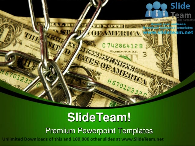 Dollar notes in chains money power point templates themes and backgro premium powerpoint templates toneelgroepblik Images