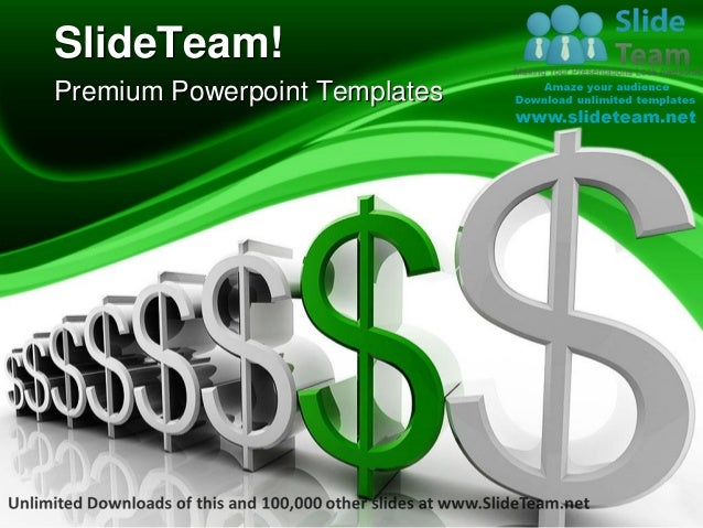 Dollar Rises Money Power Point Templates Themes And