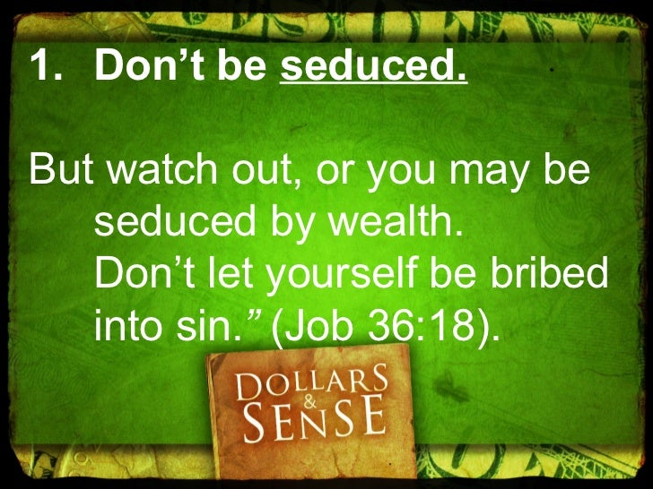 Seduction Questions:• Do you neglect your family because ofyour work?• Is it hard for you to leave your workbehind in the ...