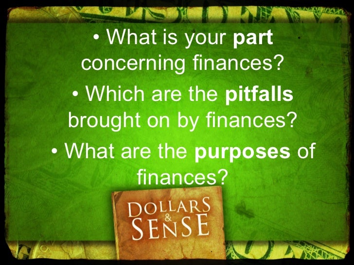 A. Clarify andaccept our part  concerning   finances.