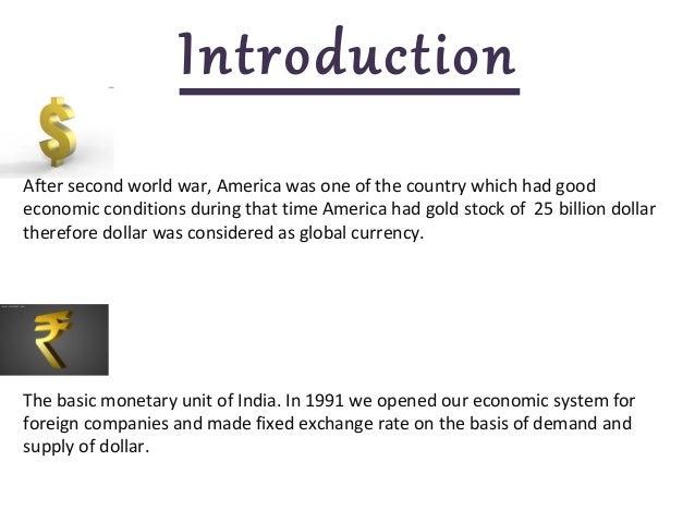Rupees vs dollar essay