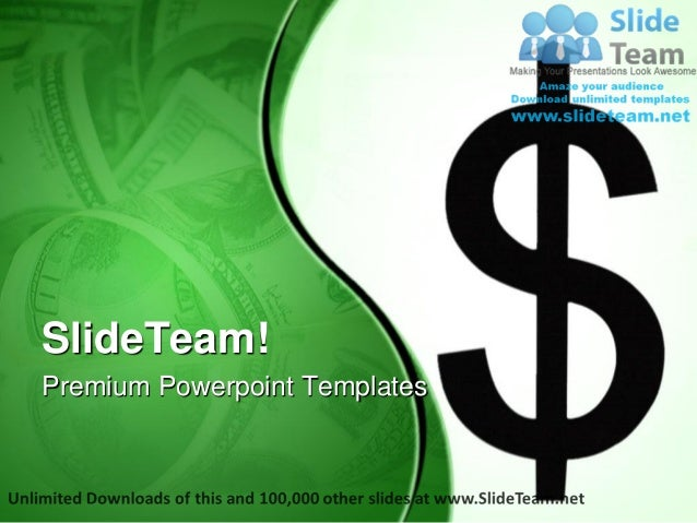 Dollor Sign Money Power Point Templates Themes And