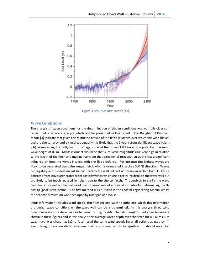 DollymountFloodWall– ExternalReview 2016  7   Figure3SeaLevelRiseTrends[13] WaveConditions Theanalysis...