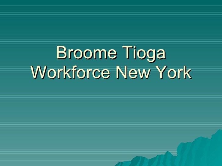 Broome Tioga Workforce New York