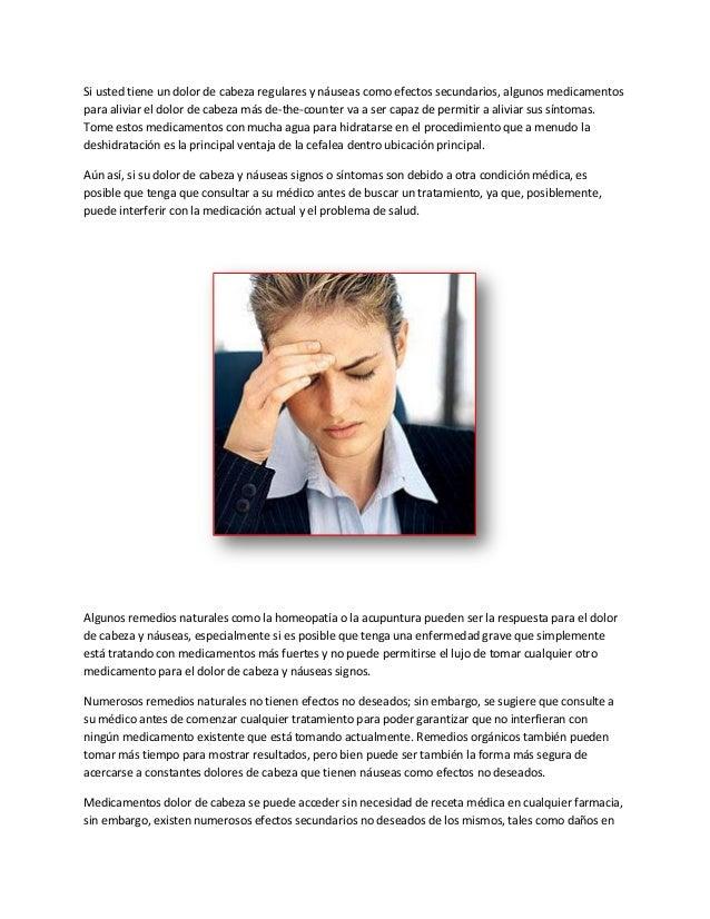 Dolor de cabeza y nauseas Slide 2