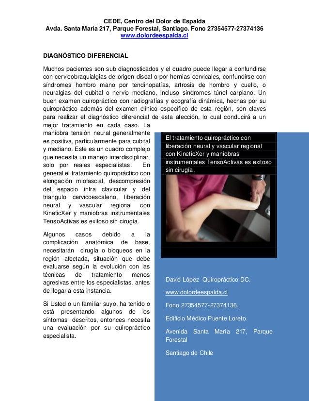 Dolor de Cuello y Brazo Sindrome de los Escalenos y Quiropraxia