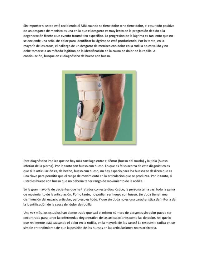 Sin importar si usted está recibiendo el MRI cuando se tiene dolor o no tiene dolor, el resultado positivode un desgarro d...