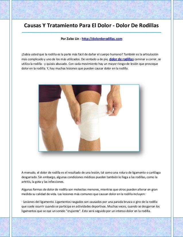 Dolor de rodillas - Dolor en la parte interior de la rodilla ...