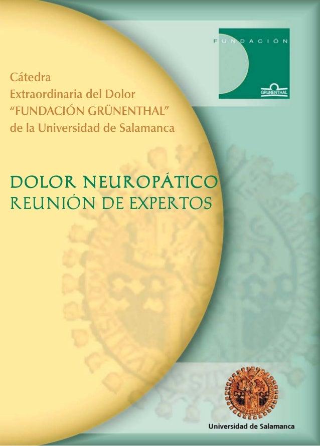 """1 DOLOR NEUROPÁTICO REUNIÓN DE EXPERTOS Salamanca, 17 y 18 de Junio de 2002 Cátedra Extraordinaria del Dolor """"FUNDACIÓN GR..."""