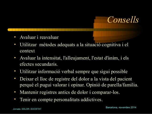 Consells  • Avaluar i reavaluar  • Utilitzar mètodes adequats a la situació cognitiva i el  context  • Avaluar la intensit...