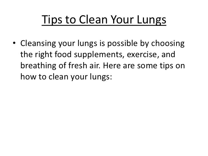 how to make lungs healthy after quitting smoking