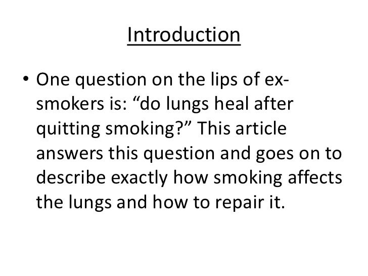 How To Repair Lungs After Smoking